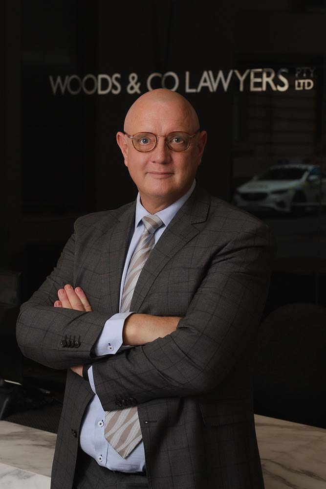 Michael Woods Principal of Woods & Co Lawyers in Adelaide